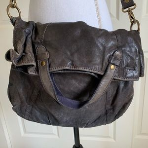 Lucky Brand Boho Cross Body Leather Purse Bag